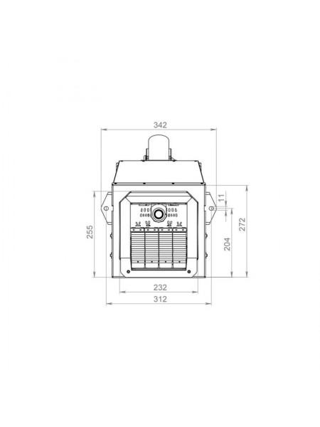 Пеллетная горелка Bioprom AIR Pellet Ceramic 100 кВт