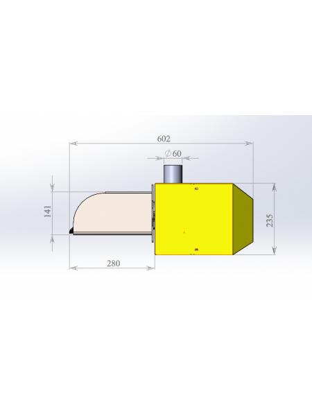 Пеллетная горелка Combo 33 Plum-360 (комплект)