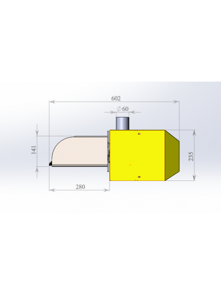 Пеллетная горелка Combo 33 Plum-860 (комплект)
