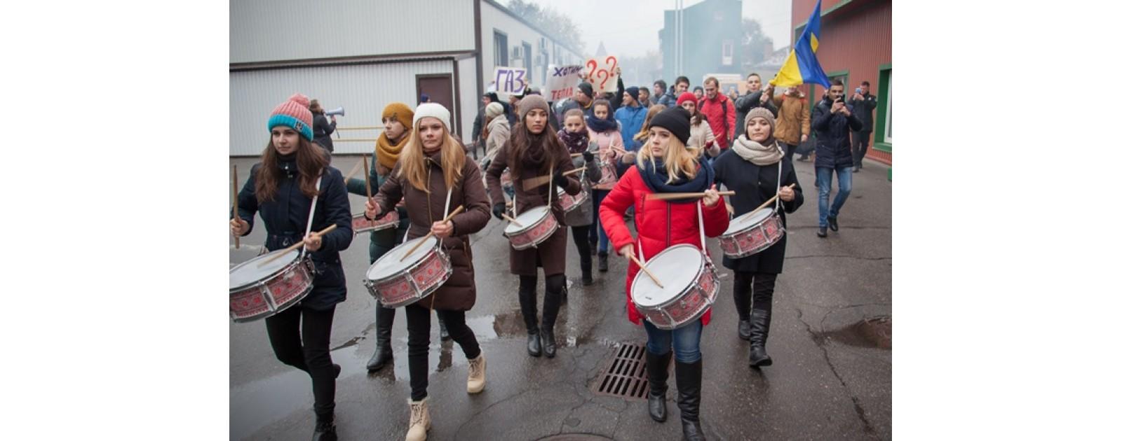 Студенты ВУЗа митингуют без отопления